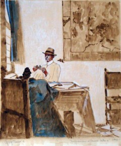 David Warrilow in a Vermeer Interior (Study)