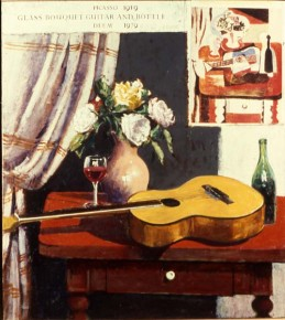 Glass Bouquet Guitar and Bottle: Picasso 1919-Deem 1979