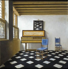 Vermeer's Music Lesson with the Figures Removed