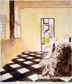 Yellow Vermeer Interior