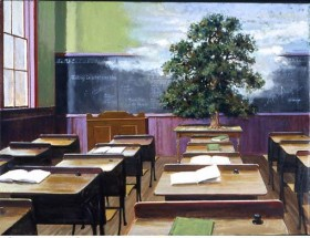 Schoolroom with Tree