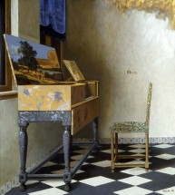 Vermeer's Lady Seated at a Virginal, the Lady Removed